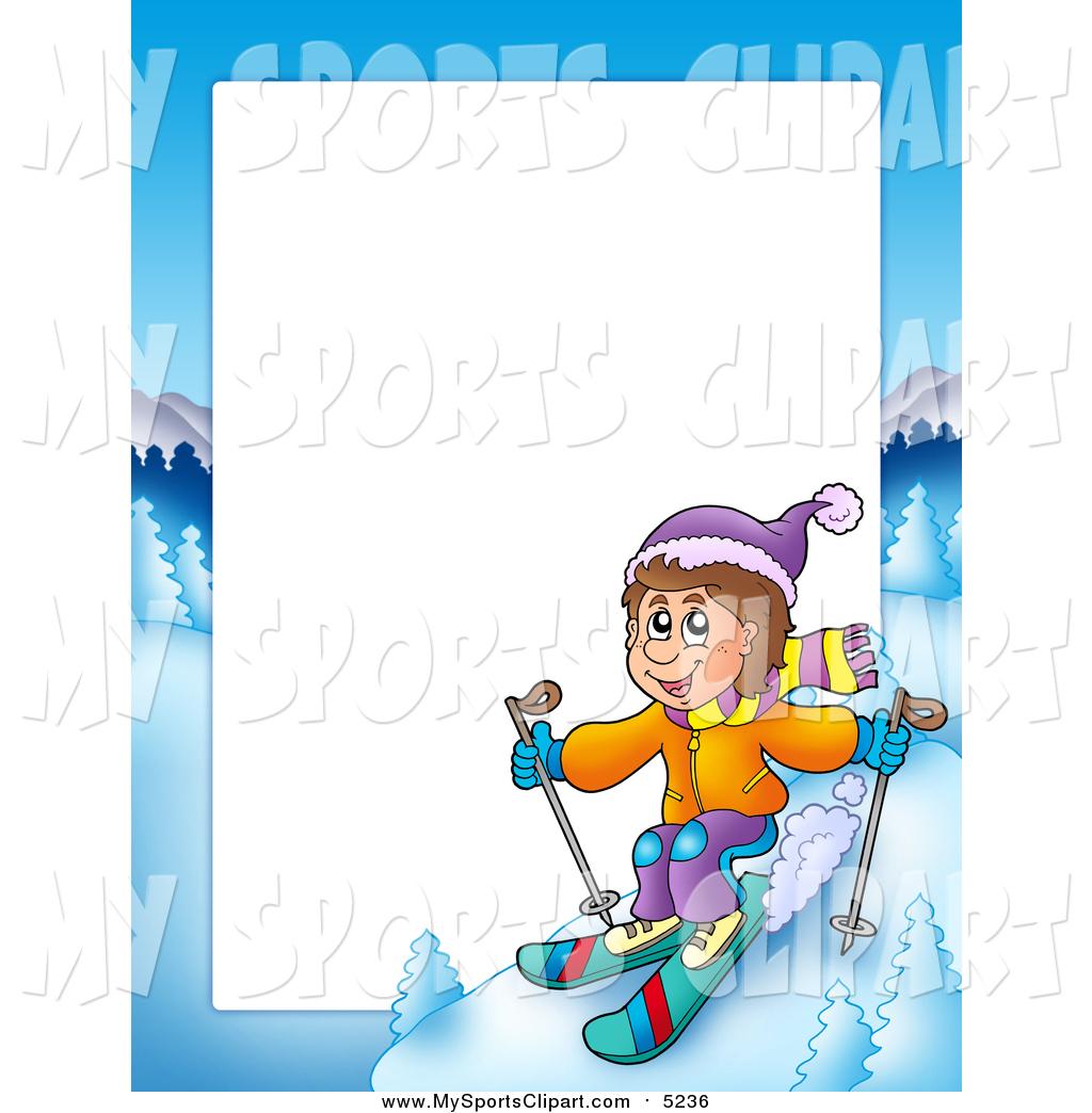 1024x1044 Sports Clip Art Of A Skiing White Boy Border Frame Around White