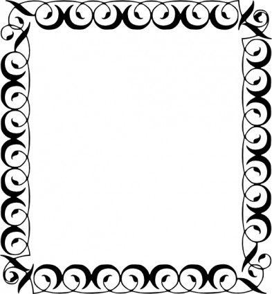 393x425 Snowflake Clip Art Border Archives