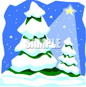 297x300 Art Image Snow Covered Christmas Trees