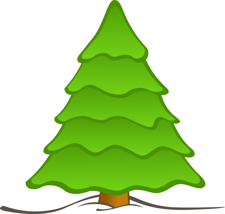 728x692 Christmas ~ Free Cartoon Christmas Tree Vector Christmas Cartoon