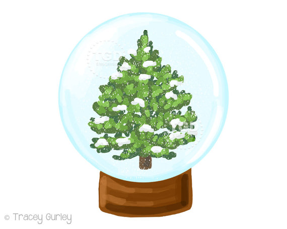 570x456 Snow Globe Christmas Clipart Winter Clipart Winter Scene