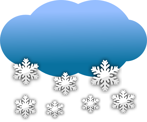600x499 Snow Clouds Clip Art