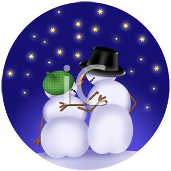 350x349 Christmas Background Of Snow People Sitting In Falling Snow