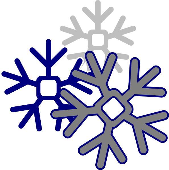 594x599 Edited Snowflake Clip Art