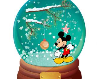 340x270 Mickey Snow Globe Etsy