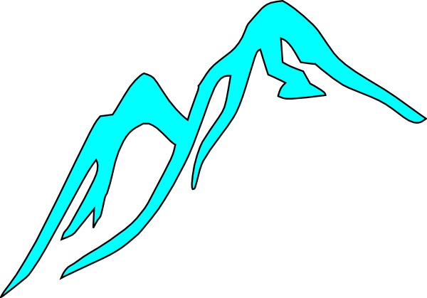 600x419 Snow Covered Mountain Clipart