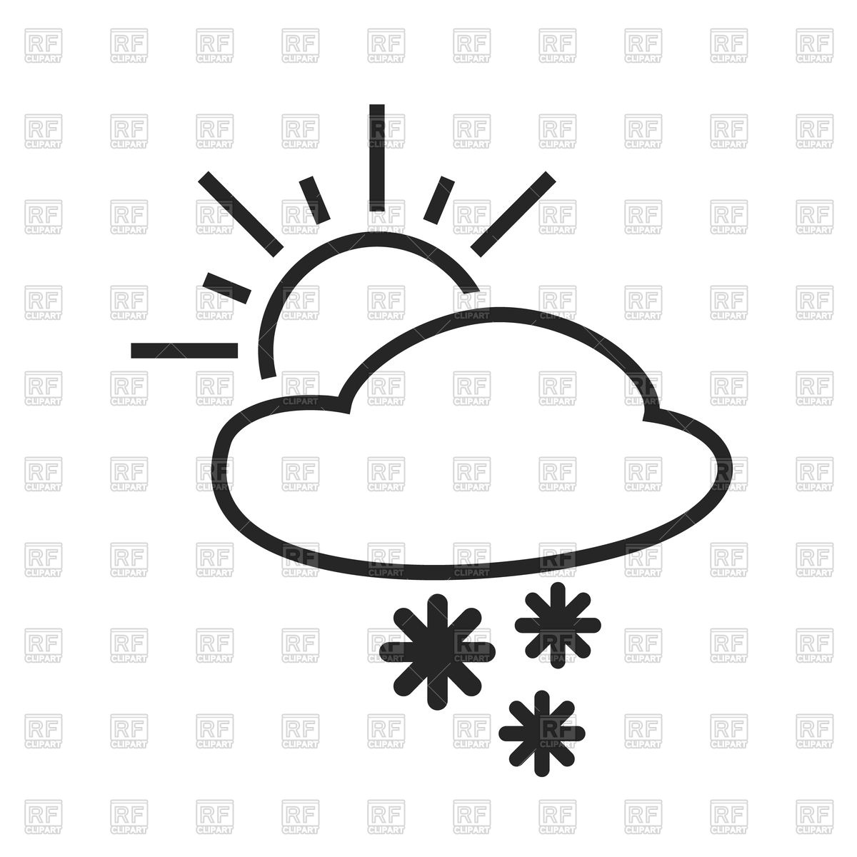 1200x1200 Weather Background Sun And Star, Cloud, Rain And Snow Royalty