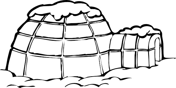 600x300 Ice Snow House Polar Clip Art Free Vector In Open Office Drawing