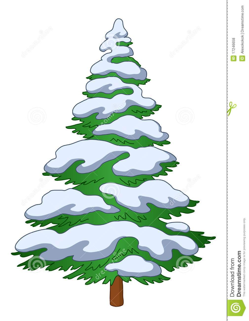 1009x1300 Pine Tree With Snow Clipart