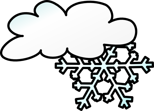 600x433 Winter Cloud Snow Flake Clip Art Free Vector 4vector