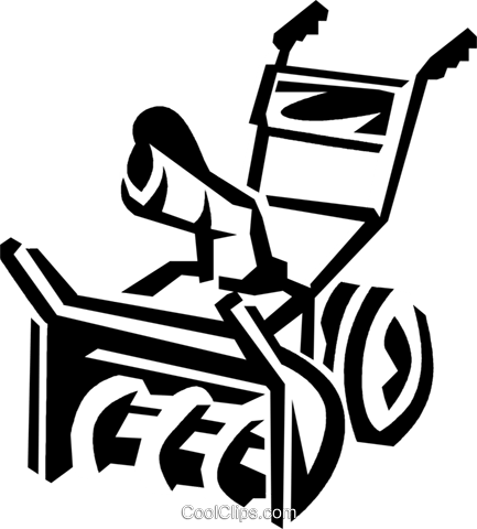 433x480 Snow Blower Royalty Free Vector Clip Art Illustration Vc038159