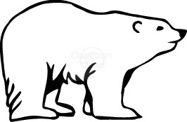 266x174 Polar Bear In The Snow Clip Art