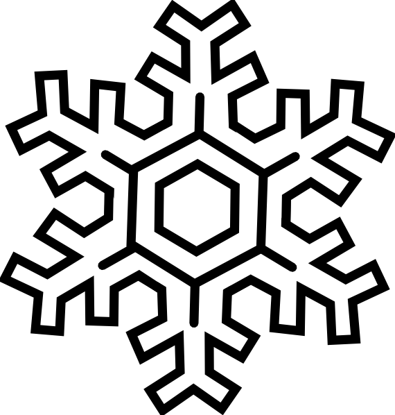 570x598 Snow Clip Art Black And White Clipart Download