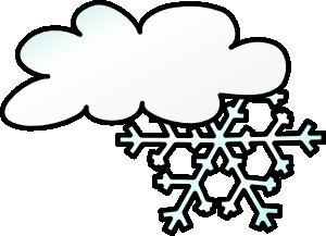 300x217 Winter Cloud Snow Flake Clip Art