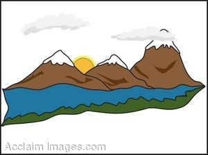300x224 Clip Art Of A Ridge Of Snow Capped Mountains