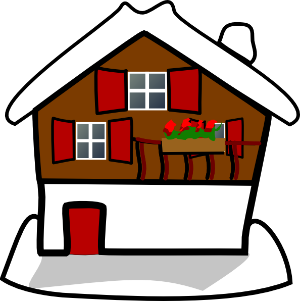 594x596 House Covered In Snow Clip Art
