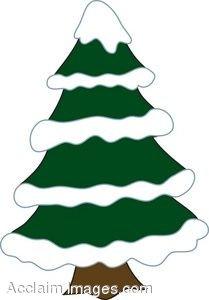 209x300 Pine Tree With Snow Clipart