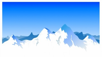 355x200 Snow Capped Mountain Clipart