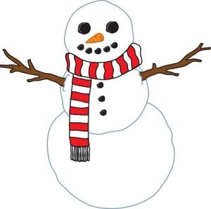 300x298 Snow Man Clipart Image
