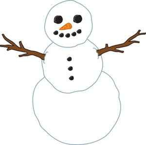 300x298 Top 50 Snowman Clip Art