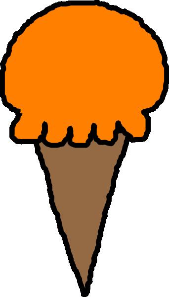 342x598 Orange Clipart Ice Cream Cone