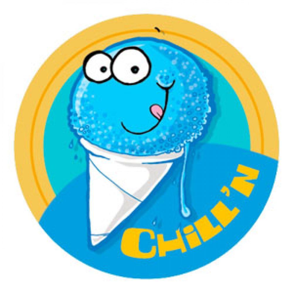 1000x1000 Scratch N Sniff Blue Snow Cone Package Penguin The Coolest