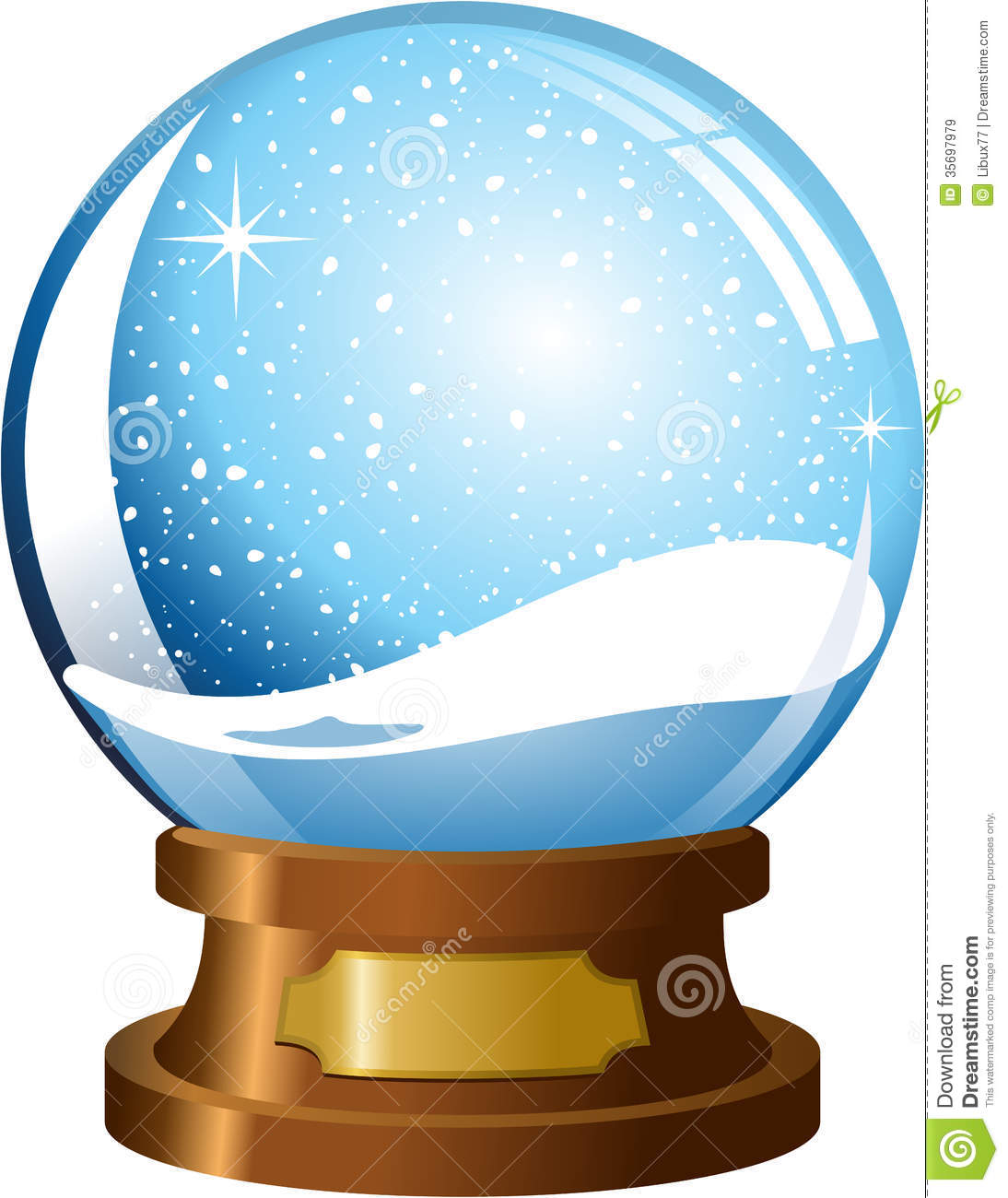 1094x1300 Snow Globe Clipart