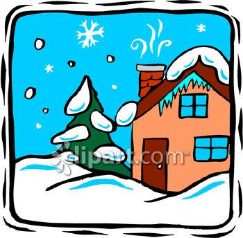 350x344 Snow House Clipart