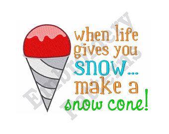 340x270 Snow Cone Applique Etsy