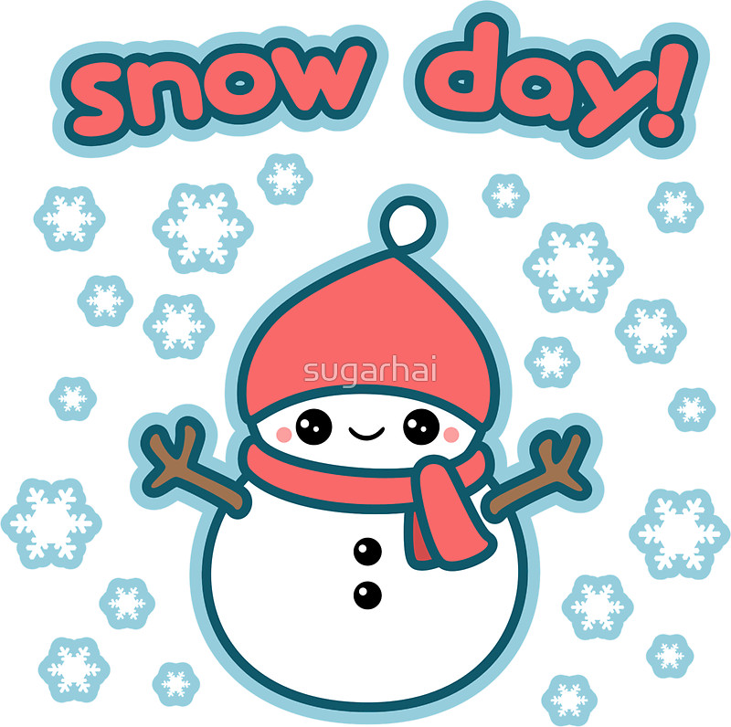 800x796 Cute Snow Day Snowman Stickers By Sugarhai Redbubble