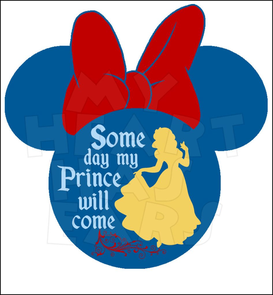 946x1024 Snow White Silhouette Some Day My Prince Will Come Minnie Head