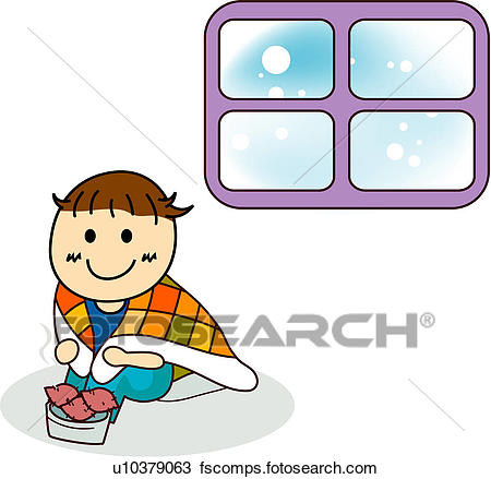 450x439 Clipart Of Seasons, Cold, Human, Winter, Snow, Weather U10379063