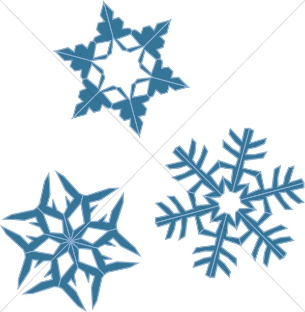 600x612 Blue Snowflake Assortment Snowflake Images