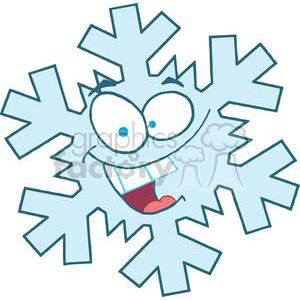 300x300 Royalty Free 3777 Cartoon Snowflake 381428 Vector Clip Art Image