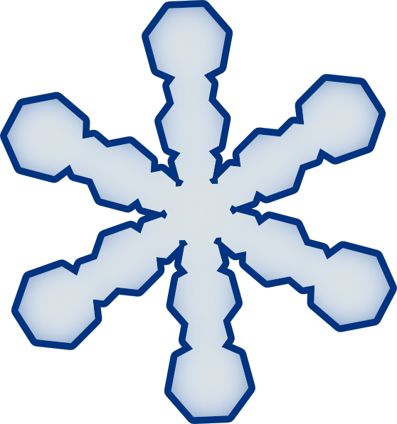 558x597 Snowflake Clipart
