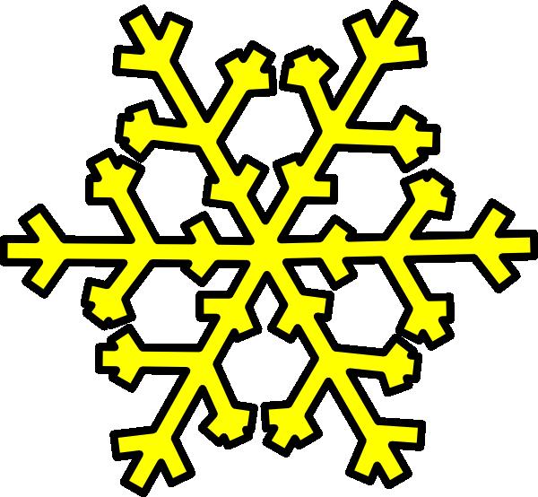 600x554 Yellow Snowflake Clip Art