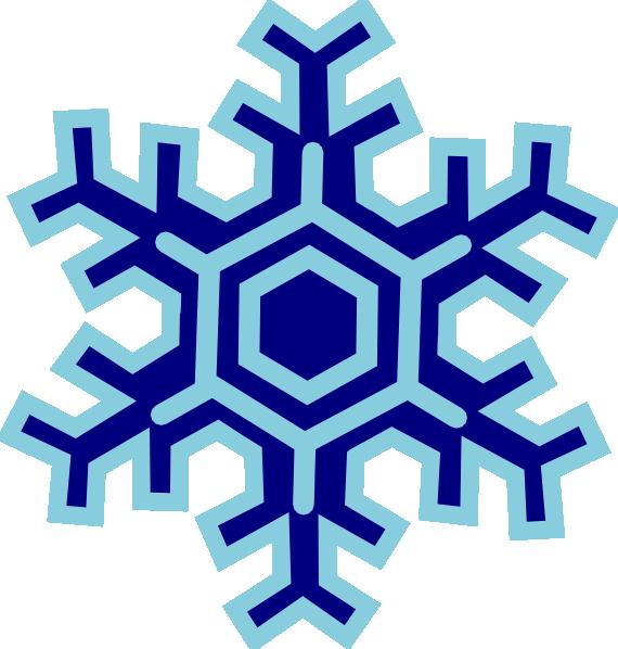 570x598 Clip Art Snow Flake