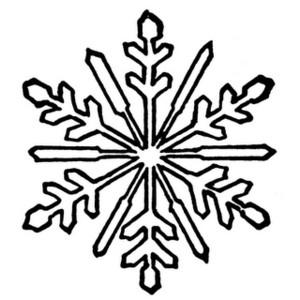 300x300 Clip Art Snowflake