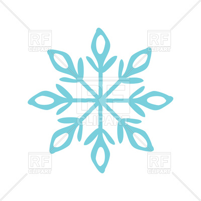 400x400 Christmas Snowflake Icon Royalty Free Vector Clip Art Image