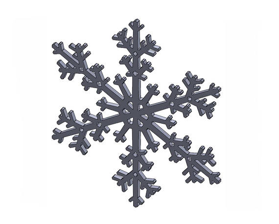 570x458 12 Snowflake Dxf Stl Files Vector Graphics