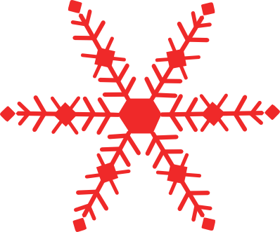 398x331 Holley Clipart Red Green Snowflake