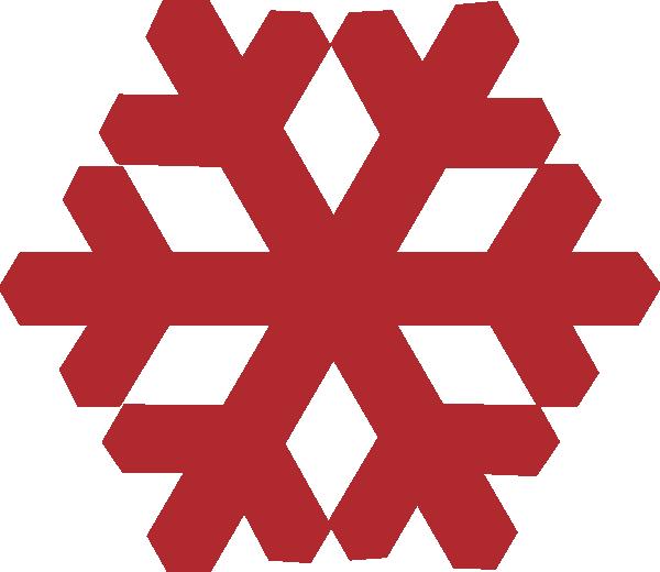 600x520 Red Snowflake Clip Art