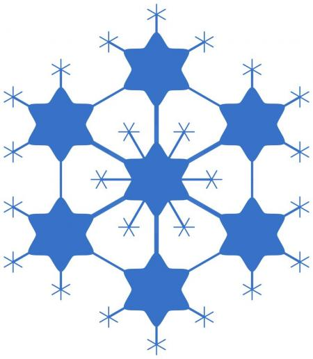 450x517 Snow Flake