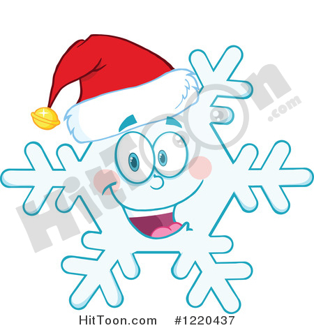 450x470 Snowflake Characters Clipart
