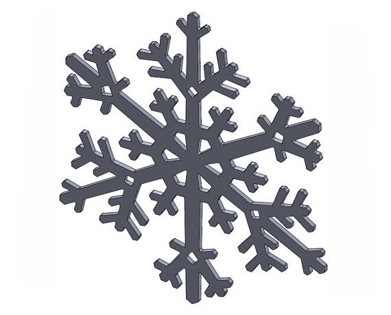 570x459 8 Snowflake Dxf Stl Files Vector Graphics