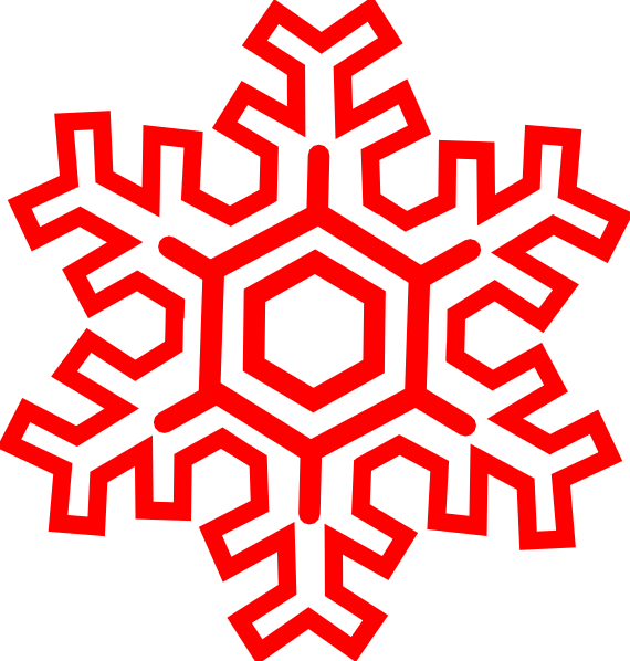570x598 Red Snowflake Clipart