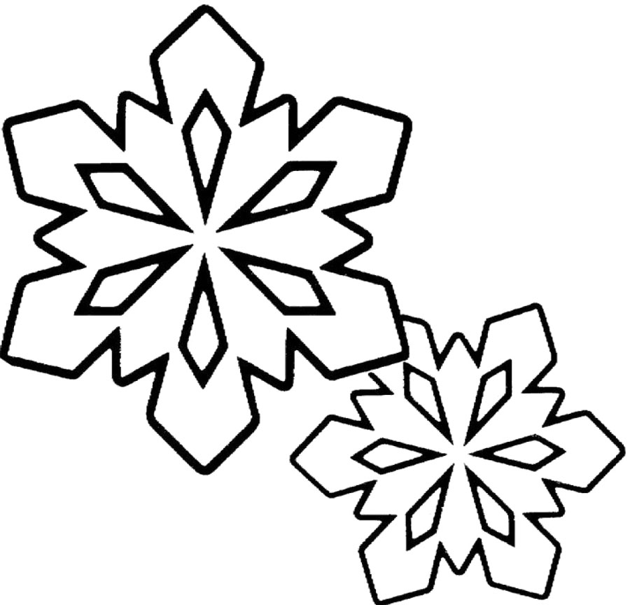 900x864 Snowflake Clipart Black And White