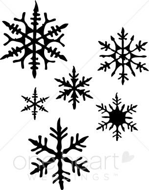 304x388 Black Snowflake Clipart 2