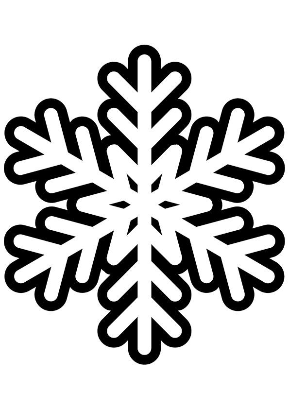 595x842 Snowflake Clipart Printable