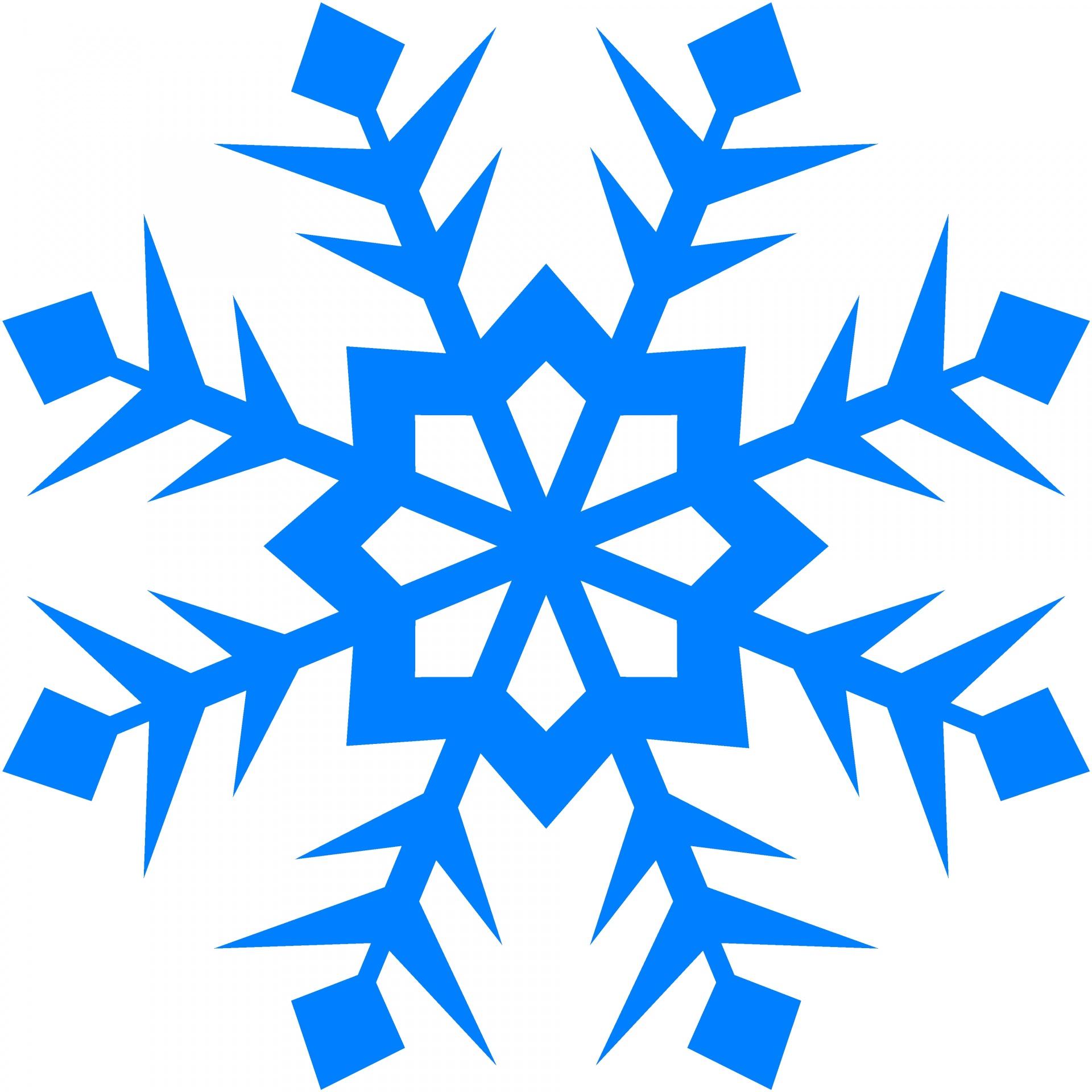 1920x1920 Blue Snowflake 99 Free Stock Photo